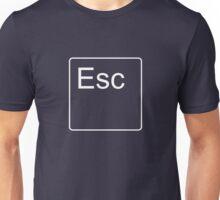 Escape Key in White Unisex T-Shirt