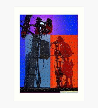 digital world multi-colored Art Print