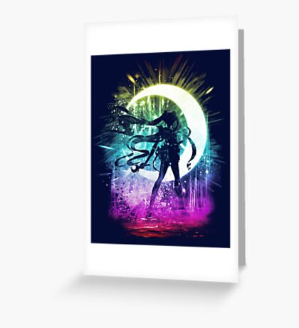 moon storm Greeting Card