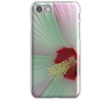 Pink And White Hibiscus Flower Macro iPhone Case/Skin