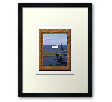 Ice on Water Framed Print