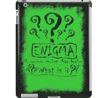 the quest of the riddler iPad Case/Skin