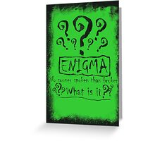 the quest of the riddler Greeting Card