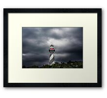 Lighthouse Behind the Trees Framed Print