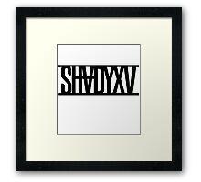 ShadyXV Black  Framed Print