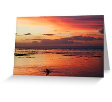 Under the fiery sky Greeting Card