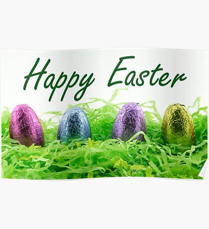 Happy Easter chocolate eggs Poster