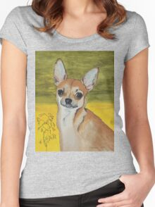 Chihuahua vector Women's Fitted Scoop T-Shirt