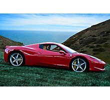 2014 Ferrari 458 Spyder Photographic Print