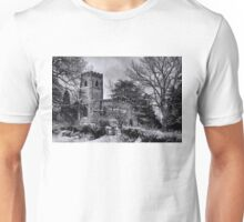St Botolph's Church, Rugby Black and White Unisex T-Shirt