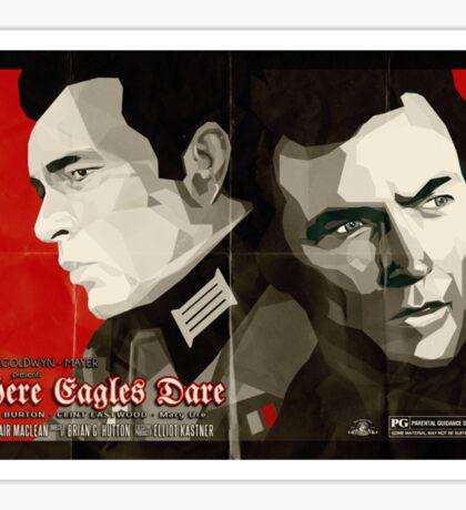 Where Eagles Dare (Alternative poster) Sticker