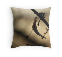 The frozen leaf and fruit Throw Pillow