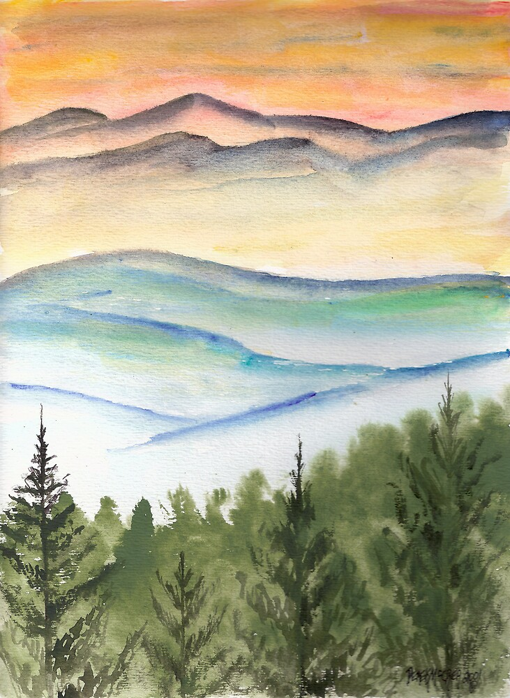 Blue Ridge Landscape Mountain Fine Art Print by derekmccrea