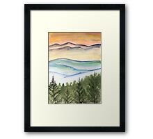 Blue Ridge Landscape Mountain Fine Art Print Framed Print