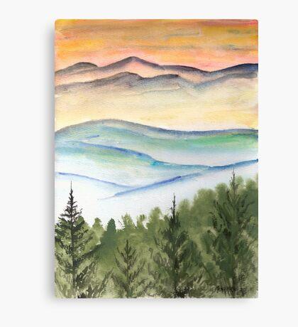 Blue Ridge Landscape Mountain Fine Art Print Canvas Print