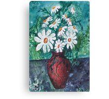 Daisy Vase Canvas Print
