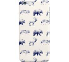 Wild Pattern // Blue iPhone Case/Skin