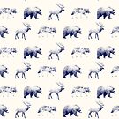 Wild Pattern // Blue by Amy Hamilton