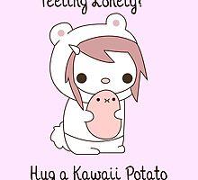 Hug a Kawaii Potato :3 by Crytiv PH