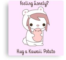 Hug a Kawaii Potato :3 Canvas Print