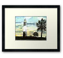 Tybee Island, GA Lighthouse Framed Print