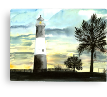 Tybee Island, GA Lighthouse Canvas Print