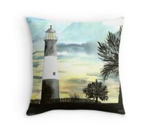 Tybee Island, GA Lighthouse Throw Pillow
