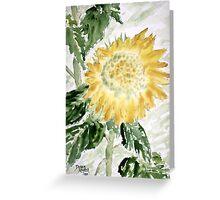 Lone Sunflower Greeting Card