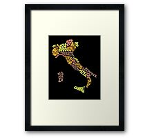 Food Map - Italy Framed Print