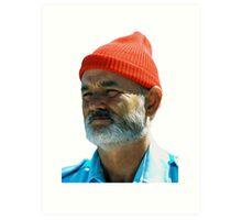 Steve Zissou - Bill Murray  Art Print