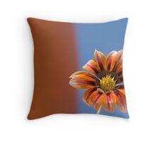 silver sunflower Throw Pillow