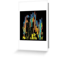 strippy city Greeting Card