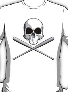 Skull and Baseball Bats T-Shirt