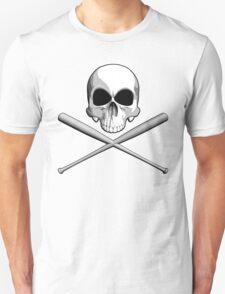 Skull and Baseball Bats Unisex T-Shirt