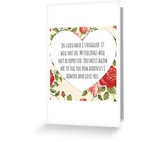 Darcy's proposal Greeting Card