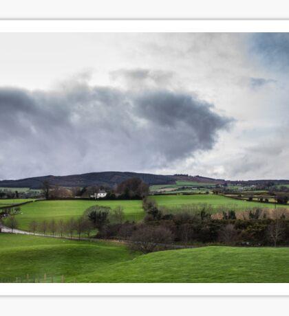 Irish landscape. Sticker