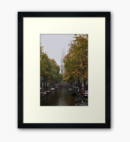Zuiderkerk on a foggy day Framed Print