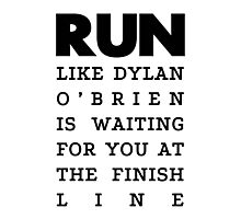 RUN - Dylan O'Brien  Photographic Print