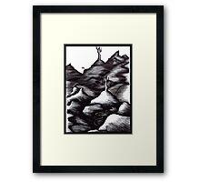 Constrasted Landscape Framed Print
