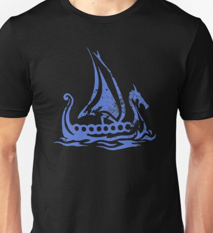 Blue Dragon Longboat Unisex T-Shirt