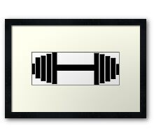 bodybuilder, bodybuilding, fitness, workout, beast, power muscle, train Framed Print