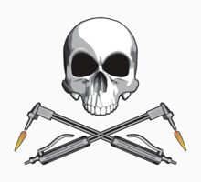 Skull with Crossed Welding Torches by dxf1969