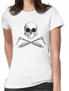 Skull with Crossed Welding Torches Womens Fitted T-Shirt