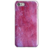 Red Stucco Plaster Texture iPhone Case/Skin