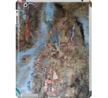 Electric Blue Streaks on Desert Surface iPad Case/Skin