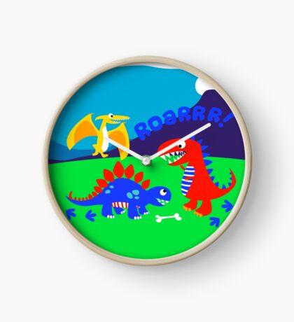 Cute dinosaurs Clock