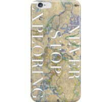 World Map - Never Stop Exploring Phone Case iPhone Case/Skin