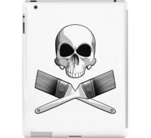 Skull with Crossed Paint Brushes iPad Case/Skin