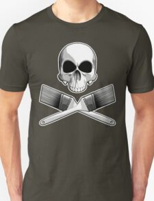 Skull with Crossed Paint Brushes T-Shirt