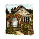 Cottage ink and watercolors  by mahinaz